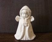 Porcelain Girl Angel Holding Gift Figurine