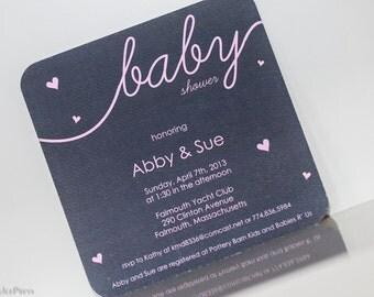 Delicate Hearts- Baby Shower Invitation