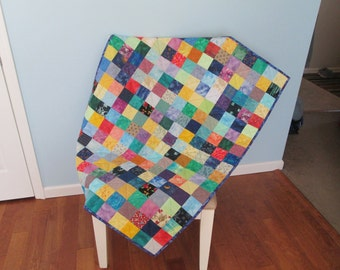 Colorful Squares Baby Quilt