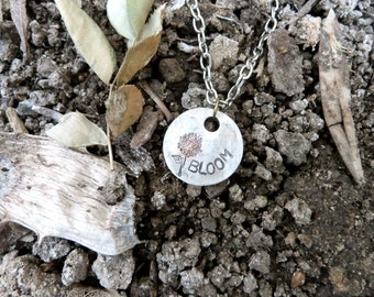 Bloom, Blossom, Grow, Flower, growing up, Necklace