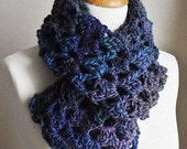 Crochet Lacy Scarf Long Multicolored Womens Winter Fashion -