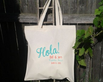 Bridesmaid Gift Bags - Wedding Tote Bags - Wedding Party Girft Bag - Hola