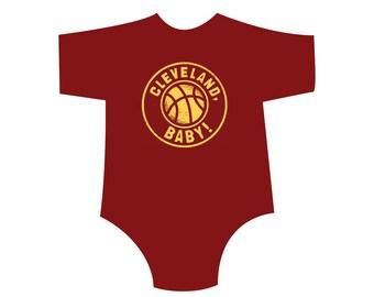 Wine & Gold CLEVELAND, BABY Kids Shirt/Onesie