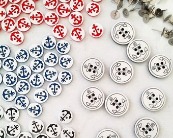 Ahoy! Anchor Button Earrings.