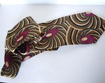 Urban Canvas Silk Swirl Necktie Men's Accessory