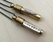 Custom listing for Emily. Triangle vial necklace
