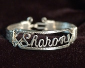 Name Bracelet Light Double Band Sterling Silver Wire