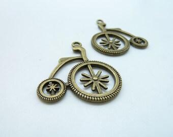 10pcs 27x30mm Antique Bronze Bike Charm Pendant c3652