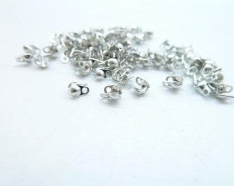 500pcs  1.2-1.5mm White K Silver Tone Ball Chain Connector Link Metal Clasp G650-2