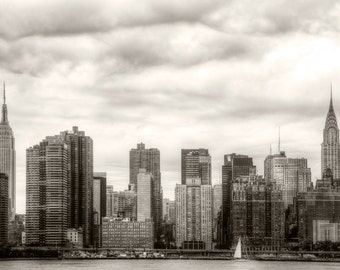 Skyline East side Manhattan New York from LIC