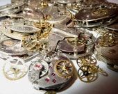 100g WHOLE WATCHES PARTS Pieces Old Gears Plates Steampunk Watch Movements Rust