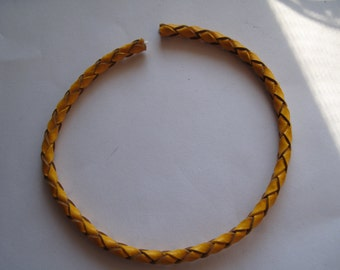 8in. Yellow Braided Leather