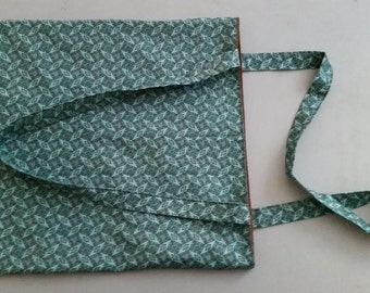 Fabric Bag in Green Print With Lining
