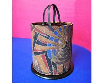 "1910s ""Ye Lantern"" Sewing ""Baskette"" / Caddy with Modernist / Metropolis cover design."