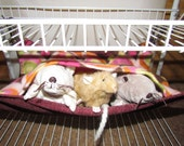 "Medium (13""x15"") Double Layered Hammock, Pet Rats, Guinea Pigs, Ferrets,  Chinchillas -Chew Resistant Bottom Layer, Modern Art Fleece"
