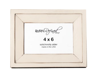 4x6 Haven picture frame - Antique White