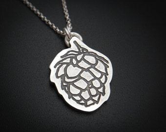 Sterling Hop Flower Necklace