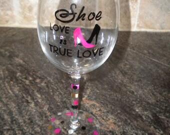 Hand Painted Fun Wine Glass