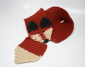 Crochet Fox Scarf / Handmade Fox Scarf / Animal Scarf / Crocheted Fox Scarf / Forest Friend / Woodland Scarf / Neck Warmer / Made to Order