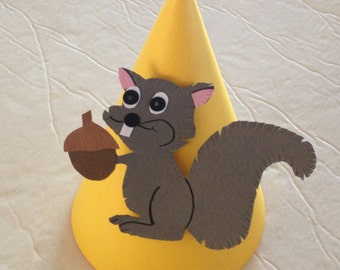 SQUIRREL Party Hats (Set of 6) -- Fall birthdays just got a little cuter!
