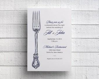 Wedding Rehearsal Dinner Invitation, Printable Rehearsal Dinner, Dinner Invitation, Dinner Invite, Rehearsal Invitation