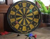 "Vintage 14"" Champion brand wooden dartboard"