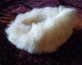 Barbie white rabbit fur stole by Mattel with pink lining vintage 1962