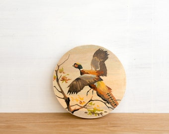 Paint by Number Circle Art Block 'Fall Pheasant' - bird hunting, plumage, vintage art