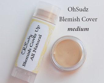 Medium Neutral Concealer Blemish Coverup Acne Sticks All Natural Hide Veins, Red Spots Acne Rosacea