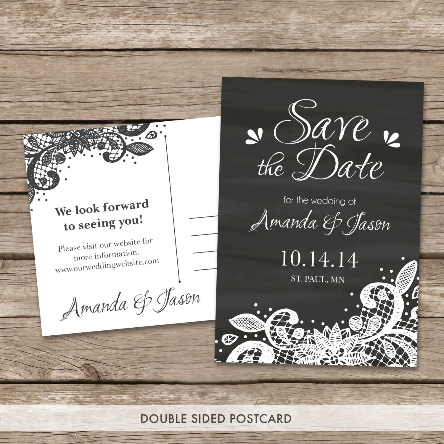 Save the Date Postcard PRINTING : Full Color Matte or ...