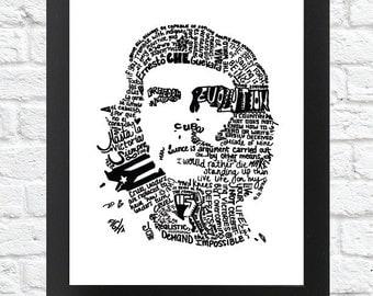 Black and White- CHE GUEVARA Word Art print (Digital Download)