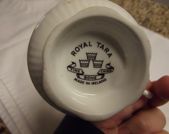 Vintage Royal Tara cup and saucer set with dessert dish - from Ireland