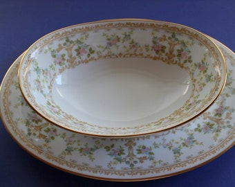 Noritake, Place Setting, China, Elegant, Wedding Dishes, Fine China, Dinner, Long Ago, Platter, Serving Bowl