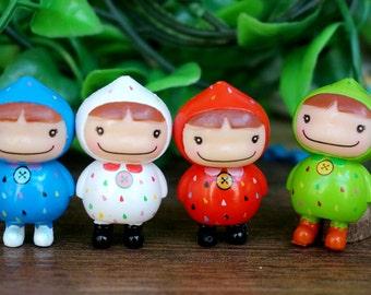 10 pcs 33x20 mm Resin  Smile Girl  Mininature Figurine/Terrarium Figurine