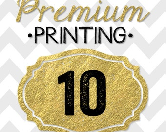 10 5x7 PREMIUM PRINTED double-sided INVITATIONS on thick cardstock and free white envelopes