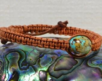 Turquoise Bracelet Gemstone jewelry Wrap Bracelet Leather wrap Bracelet