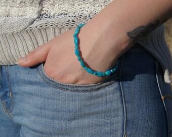 Turquoise Bracelet Sleeping Beauty Turquoise Bracelet Birthstone December Turquoise Jewelry