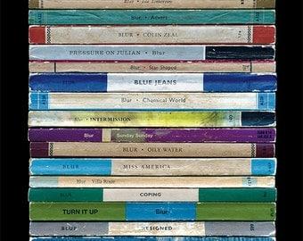 Blur 'Modern Life Is Rubbish' Album As Books Poster Print, Literary Print, Penguin Books, Music Poster, Damon Albarn Art