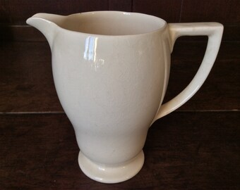 Vintage English Plain Bellied Cream Milk Pitcher Jug circa 1950's / English Shop