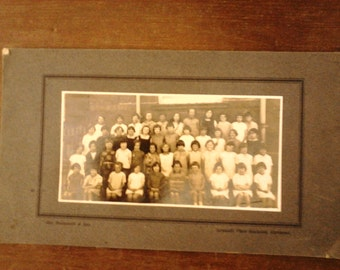Vintage English child children group girls school photograph photo circa 1920's / English Shop
