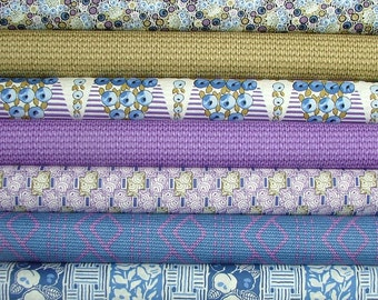 Lady Rose of Downton Abbey Half Yard Bundle of 7 by Kathy Hall for Andover