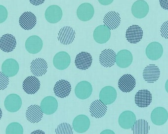 1 yard of Color Theory Dots Teal by V and Co for Moda