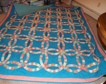 king size double wedding ring quilt - Wedding Ring Quilts