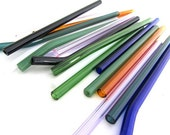 Set of 6 Multi Colored Glass Straws- Customize