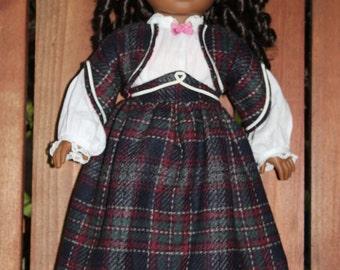 Addy's school dress for 18in American girl dolls
