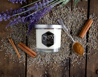 7 oz. Ochre Soy Candle - Lilac and Cinnamon Scented