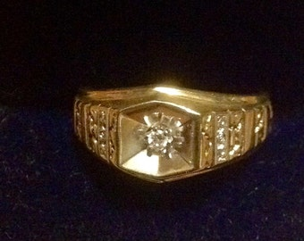 10K Diamond men's ring                VJSE