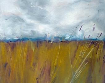 Original Pastel Painting, Prairie Art, 19.75 x 25.5, Fine Art, Soft Pastel, Original Artwork, Wall Art, Contemporary Art, Pastel Landscape