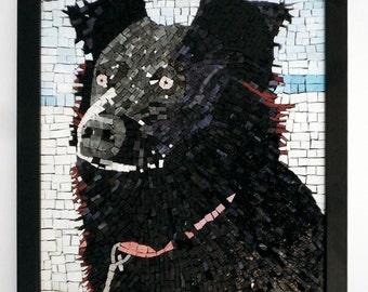 Dog Mosaic Pet Portrait Sarah DHBHK