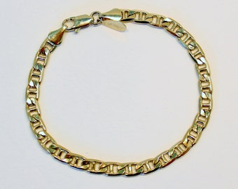 SALE 30 PERCENT OFF Vintage Signed Worthington Goldtone Polished Glossy Chain Oval Link Gold Tone Bracelet